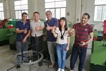 May 10, 2018 Egypt customers ordered our screw making machines and learnt how to operate the machines. They are so satisfied with our machines!!!