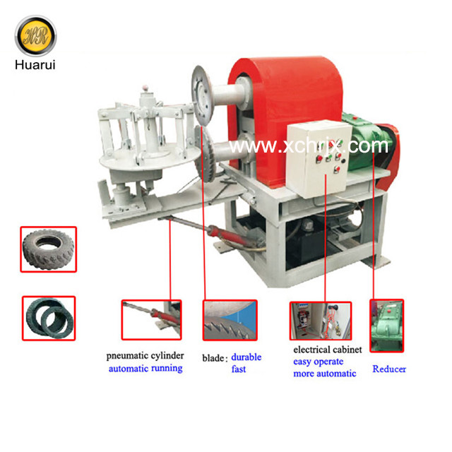 Used Tire Double Sidewall Cutter/ Tire Bead Cutting Machine