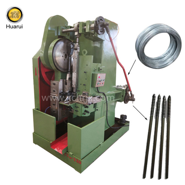 Special thread rolling machine for making double threaded screw/double sided screw bolt